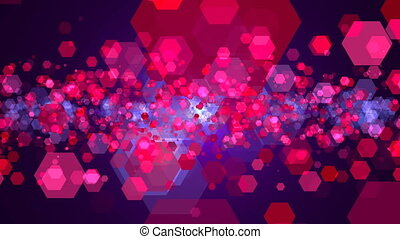 Hexagonal abstract background. Digital illustration