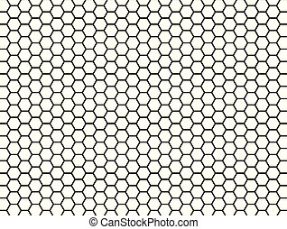 hexagonal, blanc, modèle, noir