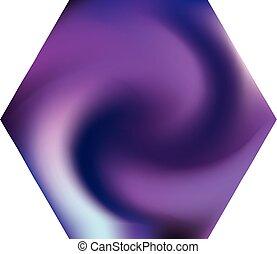 hexagonal, chromatic, fondo.