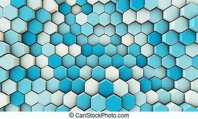 hexagonal, dynamique, canaux transmission, fond