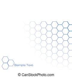 hexagonal, fond