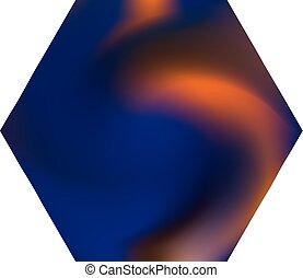 hexagonal, fondo., chromatic