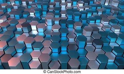 hexagonal, grid., 4k