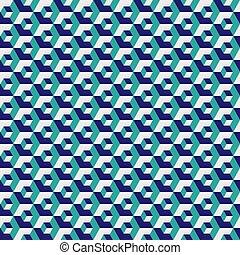 hexagonal, illustration., couleur, seamless, modèle, arrière-plan., vecteur, grille, vert, géométrique, hexagone, texture.