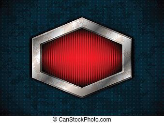 Hexagonal metal frame