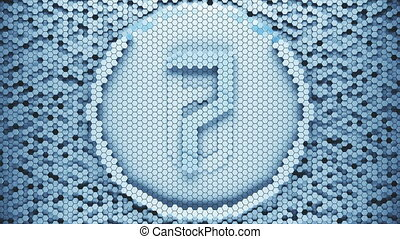 Hexagonal modern countdown Leader Graphic.