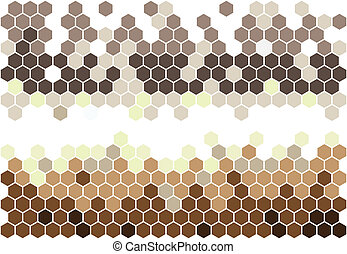 Hexagonal mosaic in brown colors