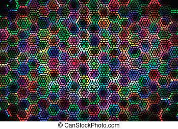 hexagonal, ornement