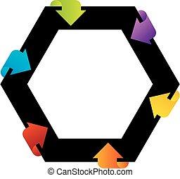 hexagonal, projete elemento