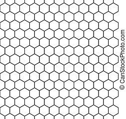 hexagonal, seamless, fond