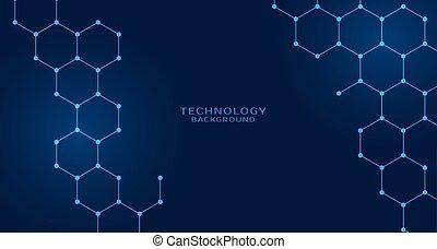 hexagonal shape technology background design