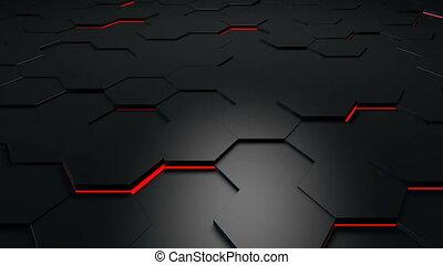 hexagonal, technologie, fond, boucle