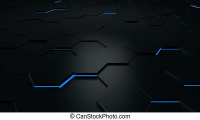 Hexagonal technology background loop
