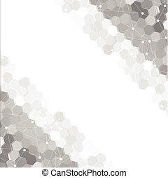 hexagonal., vecteur, 3d, résumé