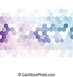 hexagonal., vettore, 3d, astratto