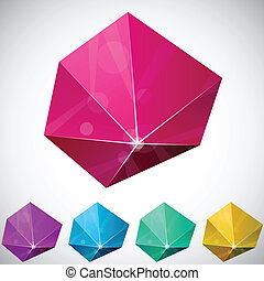 Hexagonal vibrant pyramid.