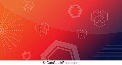 hexagone, fond, conception, résumé