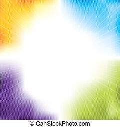 hexagones, conception, fond, coloré, éclater