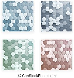 Hexagons 3d Abstract Background Vector Illustration