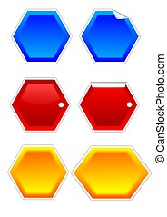 Hexagons as labels