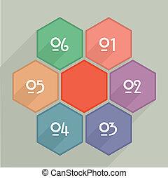 Hexagram Infographic - minimalistic illustration of hexagram...