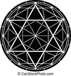 hexagram.eps - hexagram. vector illustration for design and...