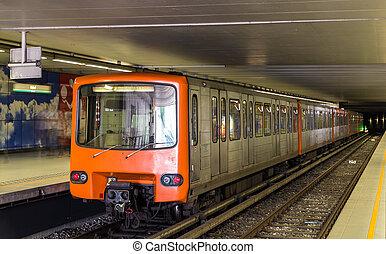 heysel, metro, estación de tren, bélgica, bruselas