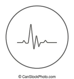 Hheart beat cardiogram line icon. - Hheart beat cardiogram...