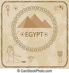 hiéroglyphes, pyramides, egypte
