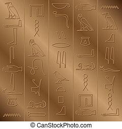 hiéroglyphique, fond