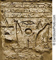 hiéroglyphique, pharaon, civilisation, karnak
