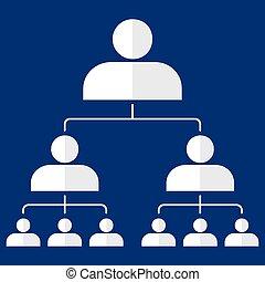 hiërarchie, organisational, collectief, tabel