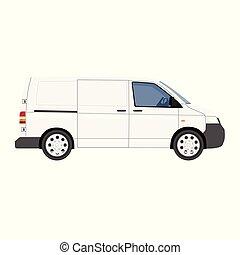Hi-detailed Cargo Delivery Van vector template.