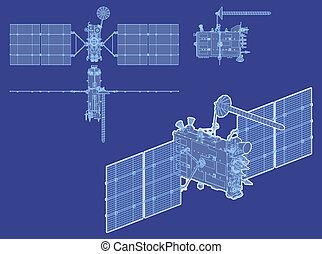 hi-detailed glonass satellite