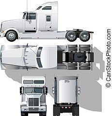 hi-detailed, halb-lastwagen