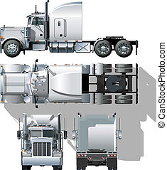 semi-truck - hi-detailed semi-truck Available EPS-10 ...