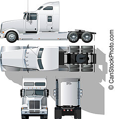hi-detailed semi-truck Available EPS-10 separated by groups...