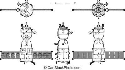 hi-detailed, statek kosmiczny