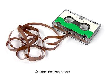 hi-fi audio cassette , isolated on white background