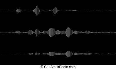 hi-fi, audio, spectre, étalage