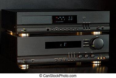 Hi-Fi Audio System Isolated on black