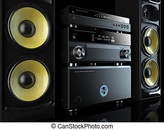 hi-fi, système stéréo