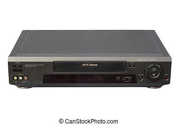 hi-fi, videoregistratore, nero