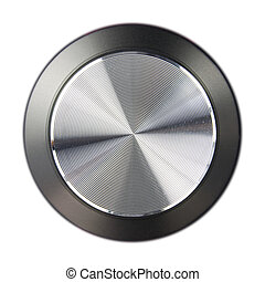 hi-fi volume dial - fi-fi speaker volume dial isolated on a...