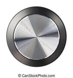 hi-fi volume dial - fi-fi speaker volume dial isolated on a...