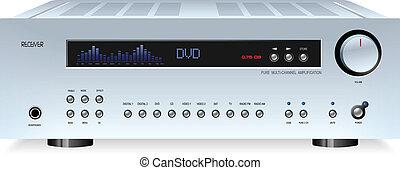 hi-fi-wiedergabe, klingen, stereo, ton, empfänger