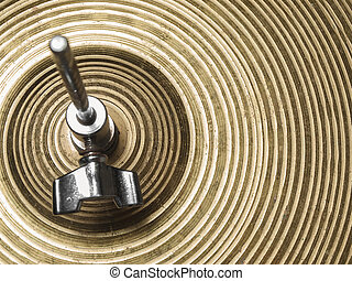 Hi-Hat closeup - Vintage hi-hat closeup, for music,...