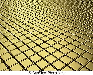 hi-res golden cubes background