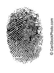 Single black Thumbprint - simple monochrome image