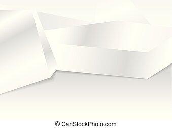 hi-tech, 抽象的, 灰色, 背景, 白, 幾何学的, 3d